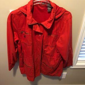 Woman's Liz Claiborne Red Jacket Size 2x